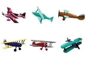 Multicolor Biplan Vector