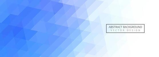 bannière abstraite de carreaux géométriques bleus et blancs vecteur