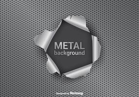 Fond de vecteur de déchirure de métal