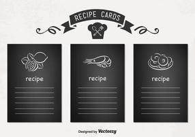 Cartes de recettes vectorielles