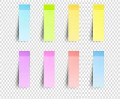 notes de rappel collantes vierges colorées vecteur