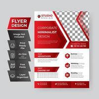modèle de flyer entreprise angles géométriques rouges