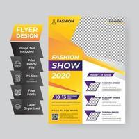 modèle d'affiche de vente de mode jaune