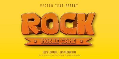 texte de jeu mobile rock vecteur