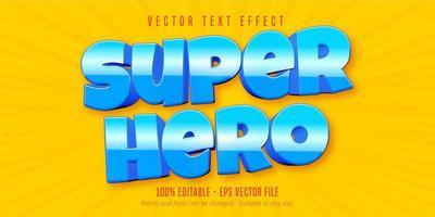 texte de super héros en gras