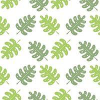 motif répété de feuilles vertes