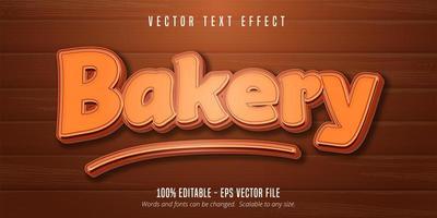 style de pâtisserie texte boulangerie vecteur