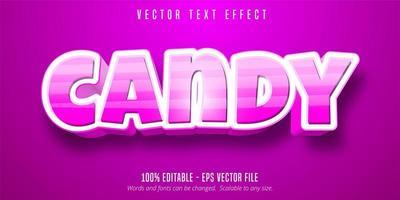texte de bonbons rayé vecteur