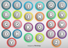 Points balle vectoriels soulignés avec des lettres vecteur