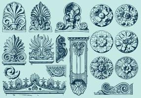 Sculptures acanthus vecteur