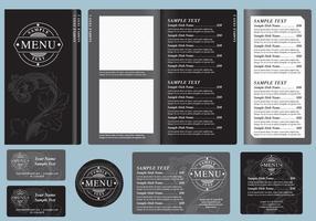 Modèles de menus noirs
