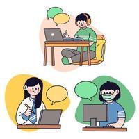 travail à domicile projet d'équipe
