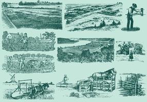 Activités agricoles vecteur