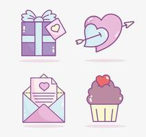 icônes assorties de la saint-valentin