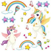 licornes mignonnes avec thème musical