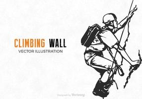 Illustration de mur d'escalade de vecteur