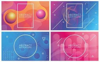 ensemble de couleurs vives et de fluides d'arrière-plans abstraits