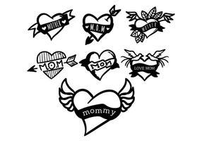 Vecteur de tatouage maman