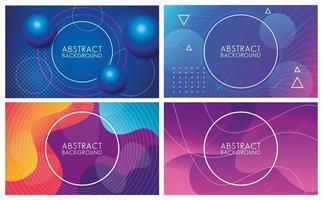 ensemble de fluides colorés d'arrière-plans abstraits