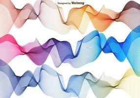 Ensemble vectoriel de vagues abstraites