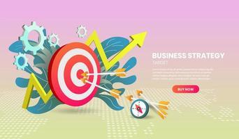 modèle de site Web de stratégie commerciale vecteur