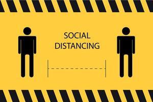 bannière de distanciation sociale vecteur