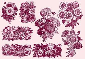 Bouquet de fleurs vecteur