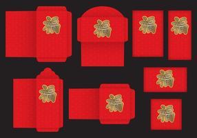 Paquet rouge vecteur