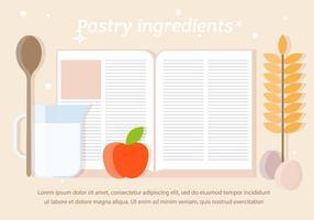 Vecteur d'ingrédients de pâtisserie gratuit