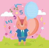écureuil adolescent avec bulle de dialogue