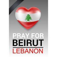 prier pour la bannière de Beyrouth