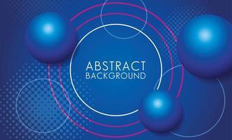 sphères bleues avec fond abstrait cadre circulaire