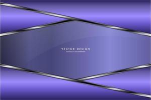 assiettes coudées violettes métalliques avec bordures argentées