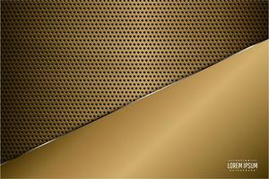 panneau d'or de luxe métallique sur la texture en fibre de carbone