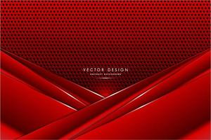 Panneaux d'angle rouges métalliques sur la texture en fibre de carbone