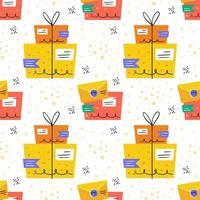 paquet et lettre modèle sans couture de livraison sûre