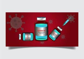 ensemble de bouteilles de vaccin contre le coronavirus covid-19