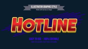 typographie d'affichage italique majuscule brillant rouge et jaune vecteur