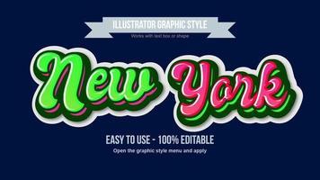 styles de texte graffiti calligraphie arrondie audacieuse rose et verte