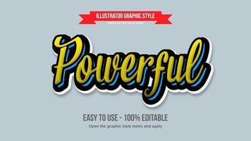 conception de calligraphie moderne jaune et bleue