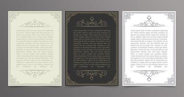 cadre décoratif vintage pour lettres vecteur