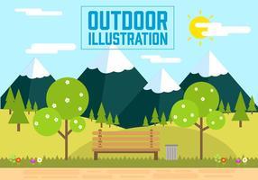 Illustration vectorielle libre de paysage vecteur