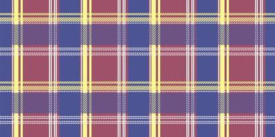 modèle sans couture de plaid tartan bleu, rouge et jaune vecteur