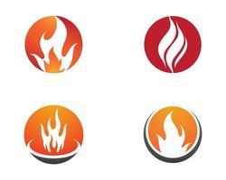 jeu de logo de symbole de feu vecteur