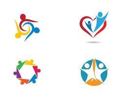 jeu d'icônes de logo de communauté vecteur