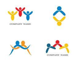 icônes de symbole de personnes jaunes, rouges, bleues