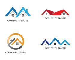 ensemble de logos de symbole de maison vecteur
