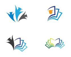 jeu d'icônes de symbole de l'éducation vecteur