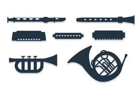 Vecteurs d'instruments de bande vecteur