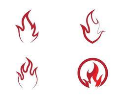 jeu d'icônes de symbole de feu vecteur